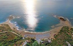 Rodos. Aerial view Rodos (Greece). Beach Hotel Stock Photo
