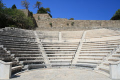Rodos - Acropole Images libres de droits