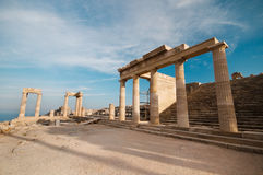 Rodos. Anciant acropolis at rhodes island Stock Photography