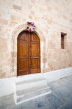 Rodos. Figurate door in the sandstone wall Royalty Free Stock Photos