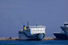 Rodos harbor. With its beautiful sea Stock Photography