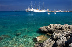 Rodos harbor Royalty Free Stock Photo