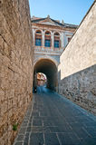 Rodos. Medieval long street at rhodes island Royalty Free Stock Photos