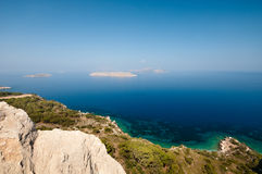 Rodos. Mediterranian sea near Rhodes island Royalty Free Stock Photography