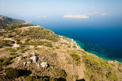 Rodos. Mediterranian sea near Rhodes island Royalty Free Stock Images