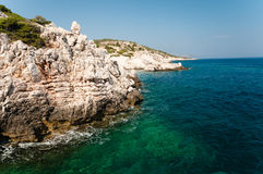 Rodos. Mediterranian sea near Rhodes island Royalty Free Stock Photo