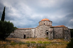 Rodos. Old temple before the storm Royalty Free Stock Photos