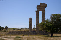 Rodos ruins. At the peak of the town Stock Photo