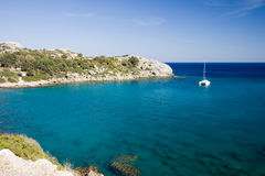 Rodos sea. Sea of the island of rodos in greece Stock Photography