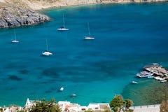 Rodos sea. Sea of the island of rodos in greece Stock Image