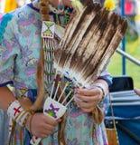 Rodowici Amerykanie przy Oregon Powwow zdjęcie stock