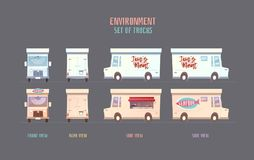 Środowisk wektorowi elemets dla gry Obrazy Royalty Free