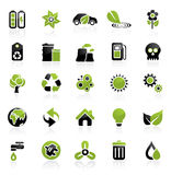 środowiska ikony set Obraz Stock