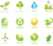 środowiskowe zielone ikony Zdjęcia Stock