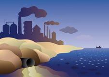 Środowiskowy kontaminowanie Obrazy Stock