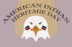 Rodowitego Amerykanina dziedzictwa dzień Eagle z twarzy farbą Zdjęcie Royalty Free