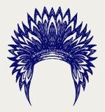Rodowitego Amerykanina hindusa pióropusz Fotografia Royalty Free