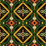 Rodowity Amerykanin, hindus, aztec, afrykanin, geometryczny bezszwowy patt royalty ilustracja