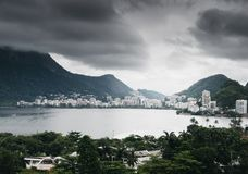 Rodrigo de Freitas Lagoon, Rio de Janeiro. Rodrigo de Freitas Lagoon is a lagoon in the district of Lagoa in the Zona Sul South Zone area of Rio de Janeiro Royalty Free Stock Photos