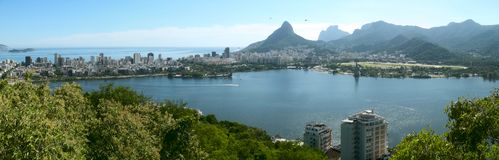 Rodrigo De Freitas laguna, Rio De Janeiro, Brazylia zdjęcia stock