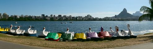 Rodrigo de Freitas-lagune, Rio de Janeiro, Brazilië royalty-vrije stock afbeeldingen