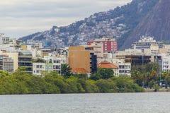 Rodrigo de Freitas lagoon - Rio de Janeiro royalty free stock photo