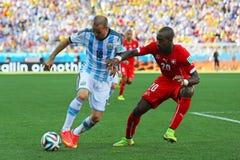 Rodrigo Palacio and Gonzalo Higuain  Coupe du monde 2014 Royalty Free Stock Photos