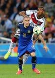 Rodrigo Palacio and Jérome Boateng Coupe du monde 2014 Royalty Free Stock Photography