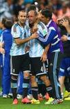 Rodrigo Palacio and Pablo Zabaleta Coupe du monde 2014 Stock Image