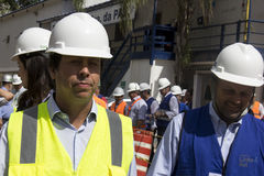 Rodrigo Vieira Rio government's transport secretary show Rio Metro works Stock Photos