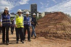 Rodrigo Vieira Rio government's transport secretary show Rio Metro works Royalty Free Stock Photography