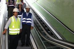 Rodrigo Vieira Rio government's transport secretary show Rio Metro works Royalty Free Stock Image
