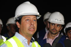 Rodrigo Vieira Rio government's transport secretary show Rio Metro works Stock Image