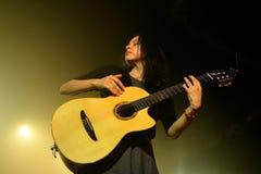Rodrigo y Gabriela band from Mexico in concert at Razzmatazz stage stock photos