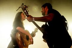 Rodrigo y Gabriela band from Mexico in concert at Razzmatazz stage Stock Images