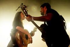 Rodrigo y Gabriela zespół od Meksyk w koncercie przy Razzmatazz sceną Obrazy Stock