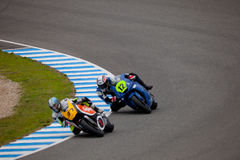 Rodriguez and Martinez pilot of MOTO2 in the CEV Stock Photo