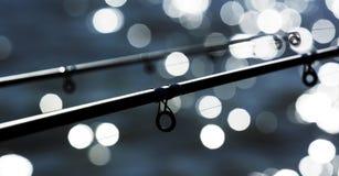 Rods at Lake Balaton. Hungary. Detail of angler rods at Lake Balaton. Hungary royalty free stock image