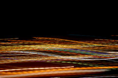 Rods of light. Night light photos in an abstract style from a place called Denia in Spain Stock Photos