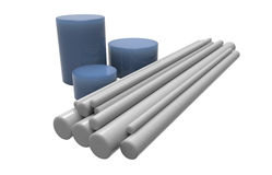 Rods of plastic. (isolated on white Stock Images