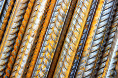 Rods of steel rebar Royalty Free Stock Photography