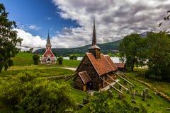 Rodven ударяет церковь, Норвегию стоковые фото