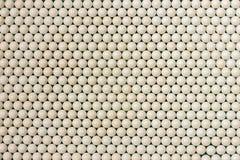 Rodzajów biali koraliki obrazy stock