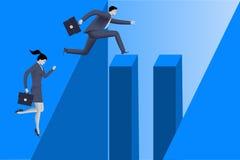 Rodzaj nierówność na kariery ścieżce Zdjęcia Stock