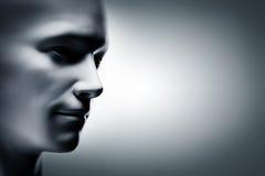 Rodzajowa ludzka mężczyzna twarz, profil strona futurystyczny royalty ilustracja