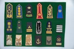 Rodzajowa marynarki wojennej, wojska jednolita naramienna patka przy pokazem/ zdjęcia royalty free