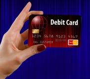 Rodzajowa próbna bank karta debetowa ja zdjęcie stock