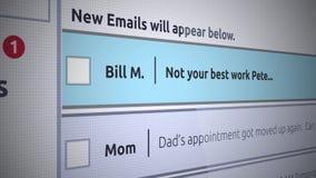 Rodzajowego emaila Inbox Nowa wiadomość - słaby występ przy pracą ilustracji