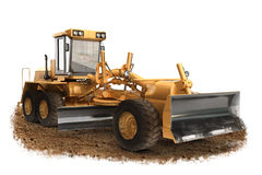 Rodzajowej budowy równiarki budowy maszynerii drogowy wyposażenie Fotografia Stock