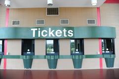 Rodzajowej kasy teatralnej biletowy kontuar zdjęcie stock